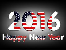 New year with text, usa Royalty Free Stock Photography