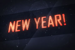 NEW YEAR text on virtual screens Royalty Free Stock Images
