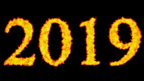 New year text word concept burning on black background. In background royalty free illustration