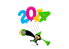 New year themes cartoon character Royalty Free Stock Photography