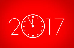 New year 2017. 2017 new year three-dimensional figures Royalty Free Stock Image