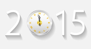 New Year 2015. Three-dimensional figures 2015 on a gray background Stock Photos