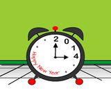 New Year, 2014. It is time for the New Year, 2014 stock illustration