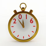 2016 New Year timer. On white, 3d illustration Stock Image