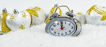 New Year tinsel hours Stock Image
