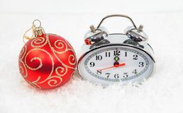 New Year tinsel hours Stock Photo