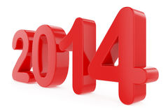 New Year title 2014. Title on white background royalty free illustration