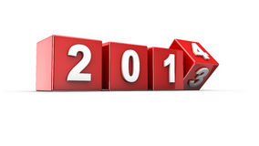 New year 2014. New year 2013 to 2014 concept in 3d royalty free illustration