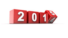New year 2015. New year 2014 to 2015 concept in 3d Stock Images