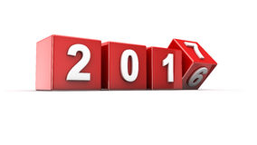 New year 2017 Stock Image