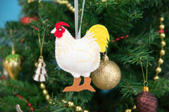 New Year. On top of a festive Christmas tree Stock Image