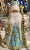 A New Year Toy, Colorful Russian Father Frost in a Shop Window royalty free stock photos