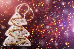 New year toy tree Royalty Free Stock Images