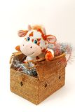 New-year toys. On an east calendar coming 2009 a year is the year of bull Stock Image