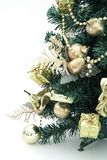 New Year toys. To decorate evergreen tree toys is old new-year tradition Stock Photos