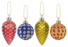 New year toys and decorations isolated on a white background. Stock Photography