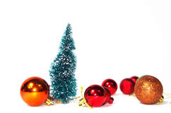 New Year toys, fir-tree Royalty Free Stock Image