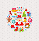 New Year Traditional Colorful Elements. Illustration New Year Traditional Colorful Elements - Vector royalty free illustration