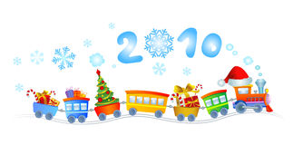 New Year train 2010 Royalty Free Stock Photo