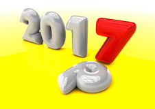 New year transition. 3D render image representing new year transition Royalty Free Stock Images