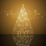 New year tree. 2011 new year card with stylized tree Royalty Free Stock Photography