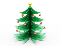 New Year tree. Souvenir New Year tree from glass Royalty Free Stock Photos