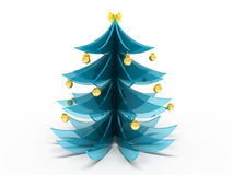 New Year tree. Souvenir New Year tree from glass Royalty Free Stock Image