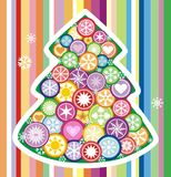 New year tree. This is a fur-tree, a new year tree. Vector, graphic, clip art Stock Photos