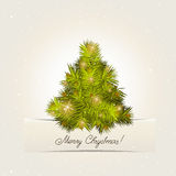 New Year tree. Card with a New Year tree. A vector Royalty Free Stock Photos