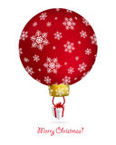 New year tree ball with air balloon shape.  Royalty Free Stock Image