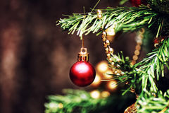New year tree ball decor Royalty Free Stock Photo