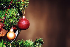 New year tree ball decor Stock Image