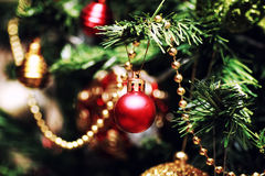 New year tree ball decor Royalty Free Stock Photos