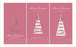New Year Tree Card Royalty Free Stock Photography