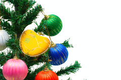 New year tree with decoration Royalty Free Stock Photos