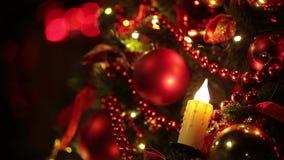 New year tree decoration stock video