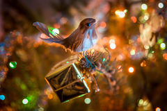 New year tree decoration. With bird royalty free stock image