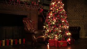 New year tree decoration stock footage