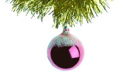 New-Year tree decorations royalty free stock photo