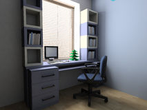 New Year tree on a desktop Stock Photo