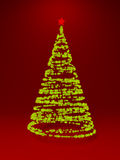 New Year tree made with lights Royalty Free Stock Image