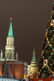 New Year Tree on the Red Square, Moscow Royalty Free Stock Photography