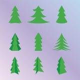New Year Tree. Set vector Royalty Free Stock Image