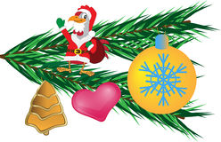 New year tree toys. Beautiful New year tree toys Stock Photos