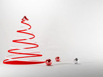 New year tree on a white background Stock Photography