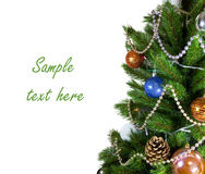 New Year tree on white background Royalty Free Stock Images