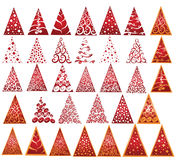 New year trees. There are abstracted New Year trees with pattern Royalty Free Stock Image