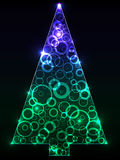 New_Year_trees Royalty Free Stock Images