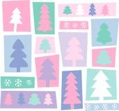 New Year trees Stock Photo