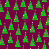 New-year trees. Wallpapers with new-year trees by the decorated toys Stock Photo
